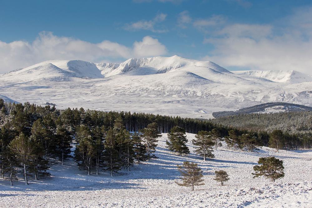 Lochnagar in winter, Balmoral, Aberdeenshire, Scotland
