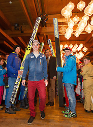 02.04.2015, Festsaal, Schwarzach, AUT, Empfang Stefan Kraft, im Bild Stefan Kraft (AUT) // during the Welcome Home Party of Austria Skijumper Stefan Kraft at the Ballroom, Schwarzach, Austria on 2015/04/02. EXPA Pictures © 2015, PhotoCredit: EXPA/ JFK