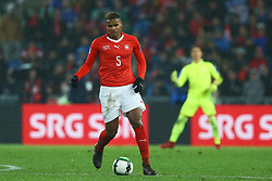 November 12, 2017 - Basel, Switzerland - Manuel Akanji of Switzerland  during the FIFA 2018 World Cup Qualifier Play-Off: Second Leg between Switzerland and Northern Ireland at St. Jakob-Park on November 12, 2017 in Basel, Basel-Stadt. (Credit Image: © Matteo Ciambelli/NurPhoto via ZUMA Press)