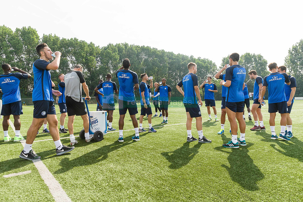 June 22, 2017 - Gent, BELGIUM - Illustration picture shows Gent's players the first training session for the new 2017-2018 season of Jupiler Pro League team KAA Gent, in Gent, Thursday 22 June 2017. BELGA PHOTO JAMES ARTHUR GEKIERE (Credit Image: © James Arthur Gekiere/Belga via ZUMA Press)