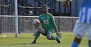 Julian Speroni saves bravely during the Final Third Development League match between U21 Crystal Palace and U21 Coventry City at Selhurst Park, London, England on 12 October 2015. Photo by Michael Hulf.
