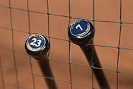 PHOENIX, AZ - JUNE 09:  The bats of Eric Thames #7 and Keon Broxton #23 of the Milwaukee Brewers lean on a fence prior to the MLB game against the Arizona Diamondbacks at Chase Field on June 9, 2017 in Phoenix, Arizona. The Milwaukee Brewers won 8-6.  (Photo by Jennifer Stewart/Getty Images)