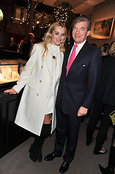 CHARLES & AGNIESZKA BUTTER at a party to celebrate the launch of Carol Woolton's book 'Drawing Jewels For Fashion' held at Asprey, 167 New Bond Street, London W1 on 10th November 2011.