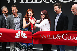 'Will & Grace' Start Of Production Kick Off Event And Ribbon Cutting Ceremony held at Universal City Plaza at Universal Studios on August 2, 2017 in Universal City, California. 02 Aug 2017 Pictured: Sean Hayes, Debra Messing, Megan Mullally, Eric McCormack, Eric Garcetti, Max Mutchnick, David Kohan, James Burrows, Robert Greenblatt. Photo credit: IPA/MEGA TheMegaAgency.com +1 888 505 6342