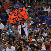 NEW YORK, NEW YORK - July 05: Fans welcome back Jose Reyes #7 of the New York Mets during the Miami Marlins Vs New York Mets regular season MLB game at Citi Field on July 05, 2016 in New York City. (Photo by Tim Clayton/Corbis via Getty Images)