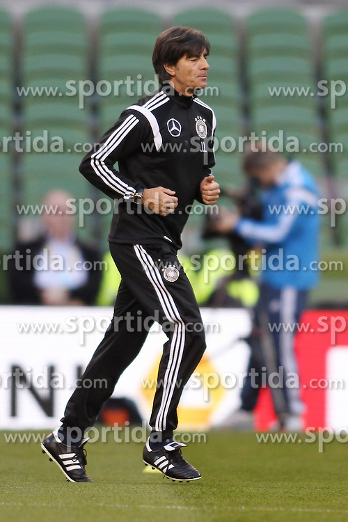 07.10.2015, Avia Stadium, Dublin, IRL, UEFA Euro Qualifikation, Training Deutschland, Irland vs Deutschland, im Bild Bundestrainer Joachim &quot;Jogi&quot; Loew beim Laufen // during a Trainingssession of German National Football Team before the away Match against Ireland at the Avia Stadium in Dublin, Ireland on 2015/10/07. EXPA Pictures &copy; 2015, PhotoCredit: EXPA/ Eibner-Pressefoto/ Schueler<br /> <br /> *****ATTENTION - OUT of GER*****