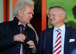 Bristol City Majority Share Holder Steve Lansdown (right) With Bristol City Chairman, Keith Dawe (left)  - Photo mandatory by-line: Joe Meredith/JMP - Mobile: 07966 386802 - 04/10/2014 - SPORT - Football - Walsall - Bescot Stadium - Walsall v Bristol City - Sky Bet League One