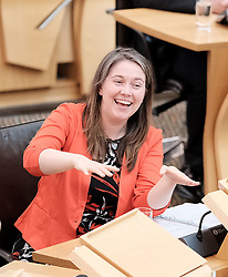 First Minister's Questions in the Scottish Parliament<br /> <br /> Thursday, 19th September 2019<br /> <br /> Pictured: Aileen Campbell MSP<br /> <br /> Alex Todd | Edinburgh Elite media