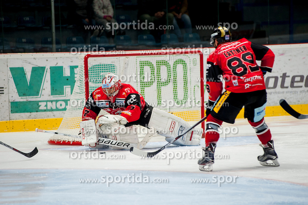 23.10.2016, Ice Rink, Znojmo, CZE, EBEL, HC Orli Znojmo vs HC TWK Innsbruck Die Haie, 13. Runde, im Bild v.l. Patrik Nechvatal (HC Orli Znojmo) Jan Lattner (HC Orli Znojmo) // during the Erste Bank Icehockey League 13th round match between HC Orli Znojmo and HC TWK Innsbruck Die Haie at the Ice Rink in Znojmo, Czech Republic on 2016/10/23. EXPA Pictures © 2016, PhotoCredit: EXPA/ Rostislav Pfeffer