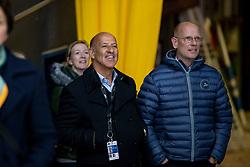 RÖSER Klaus, HILBERATH Jonny (Co-Bundestrainer)<br /> Stuttgart - German Masters 2018<br /> Siegerehrung<br /> Grand Prix Kür/Freestyle<br /> FEI Dressage World Cup 2018/2019<br /> 17. November 2018<br /> © www.sportfotos-lafrentz.de/Stefan Lafrentz