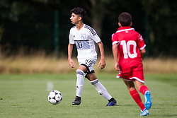 WREXHAM, WALES - Thursday, August 15, 2019: Cyprus' Konstantinos Evripidou during the UEFA Under-15's Development Tournament match between Cyprus and Malta at Colliers Park. (Pic by Paul Greenwood/Propaganda)