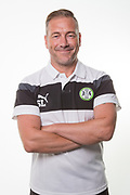 Forest Green Rovers assistant manager, Scott Lindsey during the Forest Green Rovers Photocall at the New Lawn, Forest Green, United Kingdom on 31 July 2017. Photo by Shane Healey.