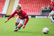 Manchester United Midfielder Lauren James (16) hitting the ground during the FA Women's Super League match between Manchester United Women and Bristol City Women at Leigh Sports Village, Leigh, United Kingdom on 5 January 2020.