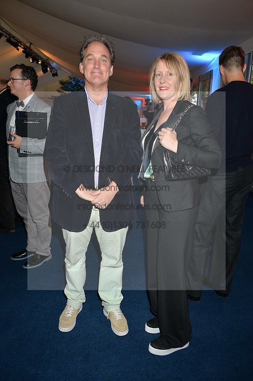 JONATHAN MAITLAND and his wife HELENA at the World's Greatest Quiz Night in aid of the Quintessentially Foundation and Dimbleby Cancer Care held at the Riverside Parliament Panorama marquee at St Thomas' Hospital, Westminster Bridge Road, Londonon 15th September 2015.