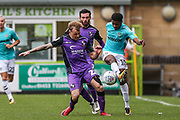 Forest Green Rovers Reece Brown(10) clears the ball during the EFL Sky Bet League 2 match between Forest Green Rovers and Port Vale at the New Lawn, Forest Green, United Kingdom on 8 September 2018.