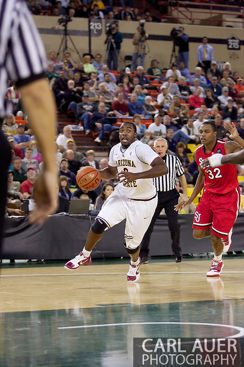 November 27th, 2010:  Anchorage, Alaska - Sun Devil senior guard Ty Abbott (3) drives to the hoop in Arizona State's 58-67 loss to St. John's in the championship game of the Great Alaska Shootout.