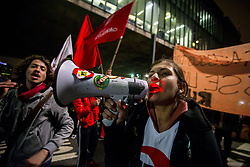 July 19, 2017 - Sao Paulo, Brazil - The Paulista Union of Secondary Students (Upes) protest in against the decision of the mayor of Sao Paulo to restrict the trips of the free student pass - from eight to four tickets a day. (Credit Image: © Cris Faga via ZUMA Wire)