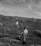 Fjällvandrare i Padjelanta i Lappland