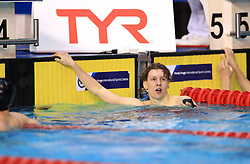 Charlie Hutchison wins the Men's Junior 400m Individual Medley Final during day three of the 2017 British Swimming Championships at Ponds Forge, Sheffield. PRESS ASSOCIATION Photo. Picture date: Thursday April 20, 2017. See PA story SWIMMING Sheffield. Photo credit should read: Tim Goode/PA Wire