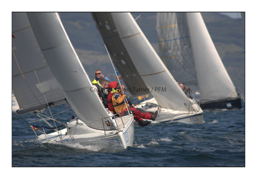 Brewin Dolphin Scottish Series 2012, Tarbert Loch Fyne - Yachting - Day 3 ..GBR7037N, Blue Funk, McLure/Higgins,  DBSC, Hunter 707.