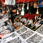 Karakoy Fish Market in Istanbul near the Galata Bridge.