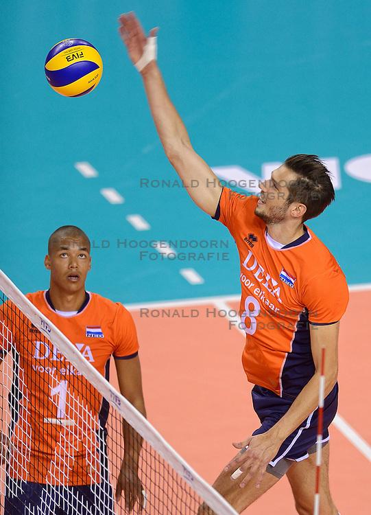 20150614 NED: World League Nederland - Finland, Almere<br /> Bas van Bemmelen