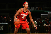 February 13, 2014: Lexie Brown #4 of Maryland in action during the NCAA basketball game between the Miami Hurricanes and the Maryland Terrapins at the Bank United Center in Coral Gables, FL. The Terrapins defeated the Hurricanes 67-52.