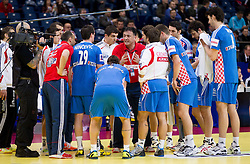 Slavko Goluza, head coach of Croatia during handball match between Croatia and Spain for 3rd place game at 10th EHF European Handball Championship Serbia 2012, on January 29, 2012 in Beogradska Arena, Belgrade, Serbia.  (Photo By Vid Ponikvar / Sportida.com)