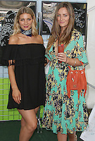 Olivia Newman-Young & Fran Newman-Young, Raffles vs Bodos Cricket Invitational and Summer Party, Burton's Court Chelsea, London UK, 14 August 2016, Photo by Brett D. Cove