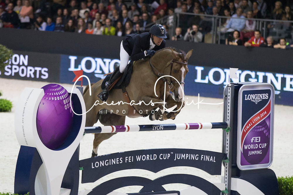 Delestre Simon (FRA) - Napoli du Ry<br /> Longines FEI World Cup&trade; Jumping Final 2013/2014<br /> Lyon 2014<br /> &copy; Dirk Caremans