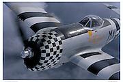 P-47D, aerial close up