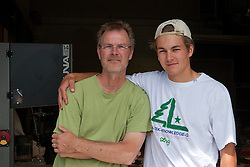 James &amp; Matt Wilson, father and son, in front of their  Red Valley Mandolins studio. Red Valley Mandolins was part of Jodi Eichelberger's ST(r)EAM Artist Studio/Gallery bike tour in the Surel Mitchell Live-Work-Create District in Garden City, Idaho on June 18, 2016.<br /> <br /> Tour started at the studios of Susan Madacsi, April VanDeGrift, Erin Cunningham, and continued to Ken McCall Studios, James &amp; Matt Wilson of Red Valley Mandolins, Arin Arthur, Angie Bowling Sebolt, Belinda Isley, Matt Herberg, Lisa Roggenbuck and the Visual Arts Collective.