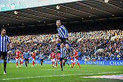 GOAL. Sheffield Wednesday vice captain Barry Bannan celebrating his goal to make the score 1-0 to Sheffield Wednesday during the EFL Sky Bet Championship match between Sheffield Wednesday and Bristol City at Hillsborough, Sheffield, England on 22 December 2019.