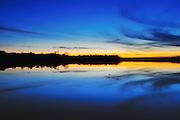 Kokomo resevior at sunset