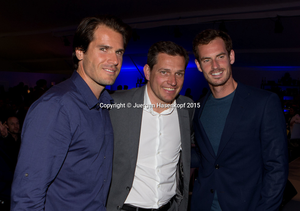 BMW Open Players Party,<br /> L-R. Tommy Haas, Michael Mronz und Andy Murray<br /> <br /> Tennis - BMW Open - ATP -   - Muenchen - Bayern - Germany  - 28 April 2015. <br /> &copy; Juergen Hasenkopf