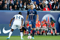 29.09.2012, Stade de Parc des Princes, Paris, FRA, Ligue 1, Paris St. Germain vs FC Sochaux, 7. Runde, im Bild ZLATAN IBRAHIMOVIC (PARIS SAINT-GERMAIN) // during the French Ligue 1 7th round match between Paris St. Germain and FC Sochaux at the Stade de Parc des Princes, Paris, France on 2012/09/29. EXPA Pictures © 2012, PhotoCredit: EXPA/ PicAgency Skycam/ Chris Elise..***** ATTENTION - OUT OF SWE *****