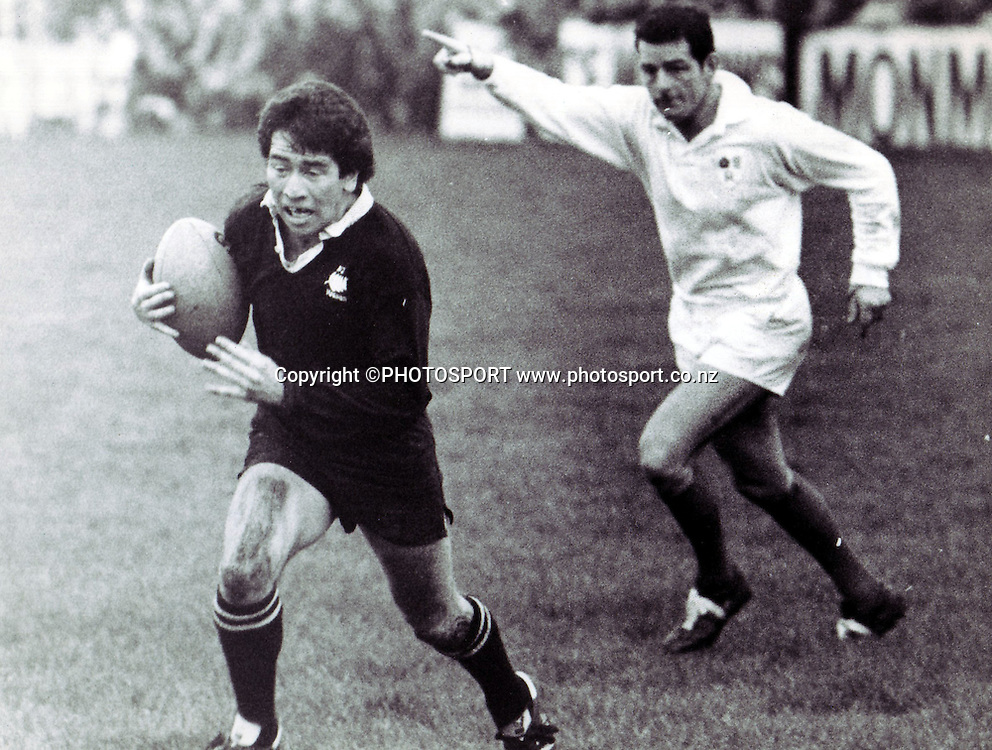 Eddie Dunn playing for the NZ Maori v Monmouthshire at Monmouthshire, November 29 1978. Photo: PHOTOSPORT