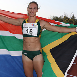 Durban, SOUTH AFRICA, 23,June, 2016 - Final of the Women senior 100m Carina Horn of South Africa during Day 2 The 20th CAA African Senior Athletics Championships will take place at the Kings Park Athletics Stadium in Durban, South Africa from June 22-26, 2016. (Photo by Steve Haag)