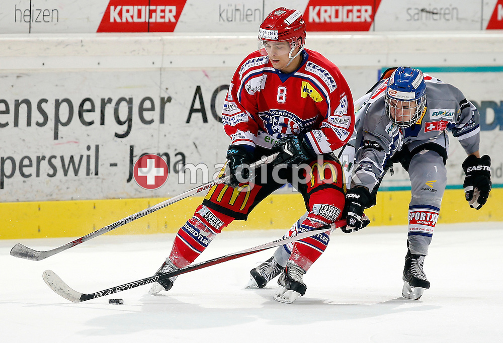 Rapperswil-Jona Lakers forward Nino Marzan is pictured during an Elite A Ranking Round 9-13 ice hockey game between Rapperswil-Jona Lakers and EHC Biel-Bienne Spirit held at the Diners Club Arena in Rapperswil, Switzerland, Sunday, Feb. 28, 2016. (Photo by Patrick B. Kraemer / MAGICPBK)