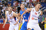 DESCRIZIONE : Berlino Berlin Eurobasket 2015 Group B Italy Serbia<br /> GIOCATORE :  Danilo Gallinari<br /> CATEGORIA :Tagliafuori<br /> SQUADRA :Italy<br /> EVENTO : Eurobasket 2015 Group B <br /> GARA : Italy Serbia<br /> DATA : 10/09/2015 <br /> SPORT : Pallacanestro <br /> AUTORE : Agenzia Ciamillo-Castoria/I.Mancini <br /> Galleria : Eurobasket 2015 <br /> Fotonotizia : Berlino Berlin Eurobasket 2015 Group B Italy Serbia