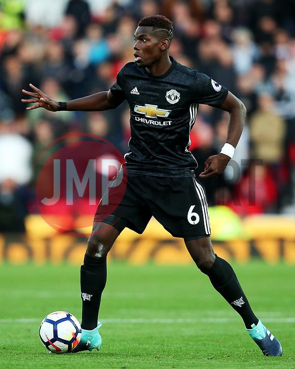 Paul Pogba of Manchester United - Mandatory by-line: Matt McNulty/JMP - 09/09/2017 - FOOTBALL - Bet365 Stadium - Stoke-on-Trent, England - Stoke City v Manchester United - Premier League