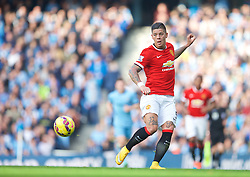 MANCHESTER, ENGLAND - Sunday, November 2, 2014: Manchester United's Marcos Rojo during the Premier League match against Manchester City at the City of Manchester Stadium. (Pic by David Rawcliffe/Propaganda)