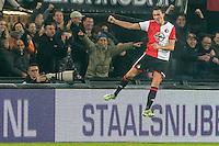 ROTTERDAM - Feyenoord - Vitesse , Voetbal , Eredivisie , Seizoen 2016/2017 , De Kuip , 16-12-2016 , Feyenoord speler Steven Berghuis viert zijn goal voor de 2-1