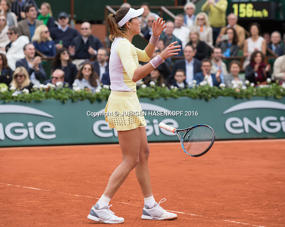 Garbine Muguruza (ESP) Matchball,Sieg,Damen Finale, Endspiel,<br /> <br /> Tennis - French Open 2016 - Grand Slam ITF / ATP / WTA -  Roland Garros - Paris -  - France  - 4 June 2016.
