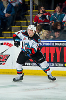 KELOWNA, BC - FEBRUARY 15: Elias Carmichael #14 of the Kelowna Rockets skates against the Red Deer Rebels at Prospera Place on February 15, 2020 in Kelowna, Canada. (Photo by Marissa Baecker/Shoot the Breeze)