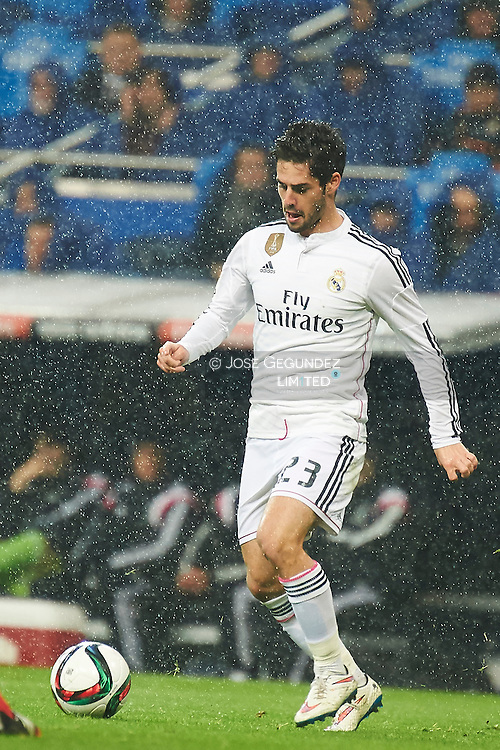 Isco during the Copa del Rey, round of 8 match between Real Madrid and Atletico de Madrid at Estadio Santiago Bernabeu on January 15, 2015 in Madrid, Spain.