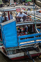 The local port area of Mandalay on the banks of the Irrawaddy River is a hive of activity.