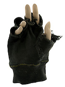 mannequin hand with fingerless gloves