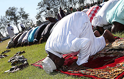 60599854  <br /> Kenyan Muslims attend Eid al-Adha prayers at Sir Ali Muslim Club in Nairobi, capital of Kenya, Oct. 15, 2013. Muslims across the world celebrate the festival of Eid al-Adha, or the Festival of Sacrifice, in commemoration of Prophet Abraham s readiness to sacrifice his son to show obedience to God, Tuesday October. 15, 2013. Picture by imago /  i-Images<br /> UK ONLY