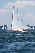 Mischief and Argument, S Class, sailing in the Museum of Yachting Classic Yacht Regatta, day one.